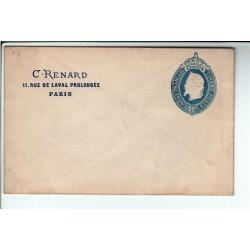 Entier Postaux -1865 enveloppe 3ème projet C.Renard gravé TROTTIN (F1)