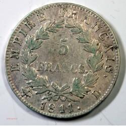 France - Ecu de 5 Francs Napoléon Ier 1811 D Lyon