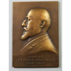 Médaille plaque Bronze, Augène Lefèvre-Pontalis 1862-1923