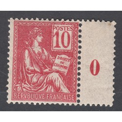 TIMBRE TYPE MOUCHON N° 112 ANNEE 1900  NEUF** Signé  Côte 95 Euros
