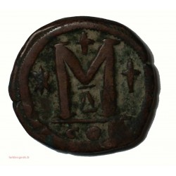 Monnaie Byzantine, Justinien Ier Follis au grand M