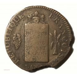 Constitution Louis XVI - 2 Sols aux balances an II I Limoges sans date