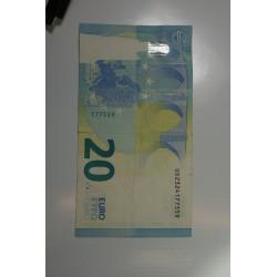 BILLET FAUTE - France 20 euro bande partiellement blanche Lettre U09FA