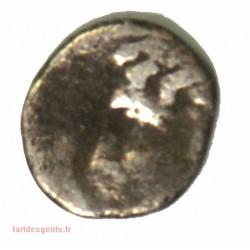 Monnaie Gauloise - 1/4 d'obole de Marseille, tête à gauche, 0.16 grs