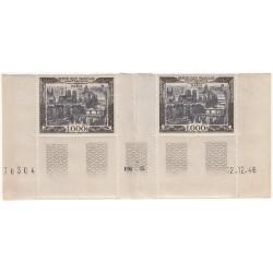 TIMBRES POSTE AERIENNE N°29 1000 Francs Paris Coin daté NEUFS** Côte 360 Euros