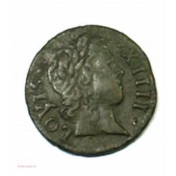 Louis XIIII - Denier tournois 1640 A joli portrait