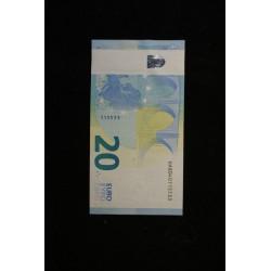 BILLET FAUTE - France 20 euro bande blanche Lettre U03I1