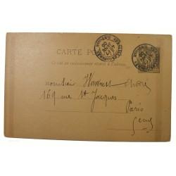 entier postal du 17 janvier 1906 du congrès de Versailles, Élection d'Armand Fallières