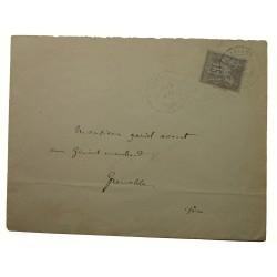 15c Sage type IIB gris pale sur lettre avec cachet à date SENAT Versailles du 14 mai 1878