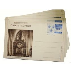 Série de 5 cartes lettres, entiers postaux Armoiries 65c bleu 1938