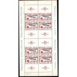 FRANCE BLOC FEUILLET N°6b Numéroté EXPOSITION PHILATELIQUE PHILATEC 1937 NEUF** Côte 300 Euros L'ART DES GENTS