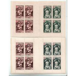 Variétés de couleur 1962 Carnets croix rouge N° 2011+ 2011a NEUFS**
