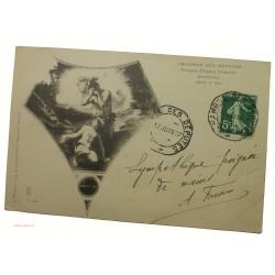 CPA Chambre des députés (Hippocrate par Delacroix) - Cachet pneumatique 17 juin 1907