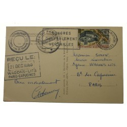 RARE cachet rouge VERSAILLES CONGRES 1913