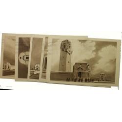 5 entiers postaux Mémorial Australien 1938 22-VII-1938 P2S