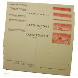 5 entiers postaux 1f Mémorial Américain 1938 neufs