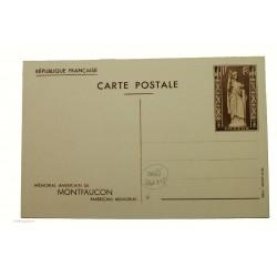 entiers postal 1f Montfaucon 1937 neuf variété sans le N°2