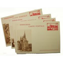 Série F2 S - Entier postaux 90 C La conciergerie 1936 avec légende REPUBLIQUE FRANCAISE