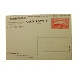 5 entiers postaux 1f25 Paquebot Normandie 1939 neufs