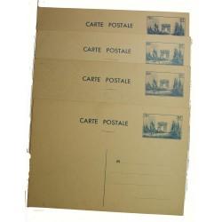 4 entiers postaux 70c et 80c Défilé de la Victoire 1939 neufs