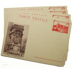 5 entiers postaux 90c la Conciergerie à Paris 1935 sans pochette