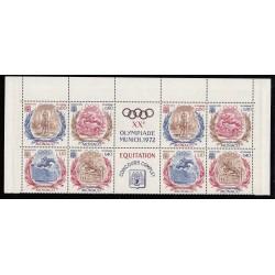 MONACO 1972 Double bande JO de Munich N°890 à 893 Neufs** L'ART DES GENTS