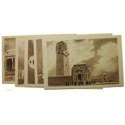 5 entiers postaux Mémorial Australien 1938 22-VII-1938 P1S 55c