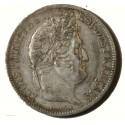 Ecu Louis Philippe Ier - 5 Francs 1831 D Lyon Tranche creux G.677 TTB