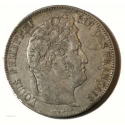 Ecu Louis Philippe Ier - 5 Francs 1833 BB STRASBOURG Tranche relief G.678 TB+