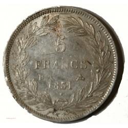 Ecu Louis Philippe Ier - 5 Francs 1831B ROUEN Tranche creux G.676 SUP