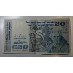 REPUBLIC IRELAND - 20 POUNDS 21-01-1992