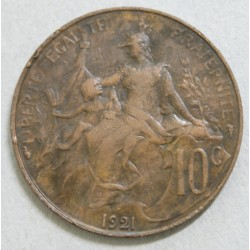 FRANCE - 10 Centimes 1921 Dupuis rare et joli
