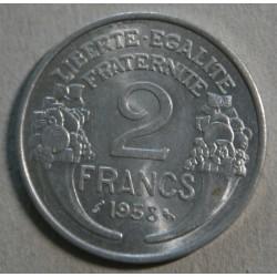 FRANCE - 2 Francs 1958 Aluminium  Belle qualité