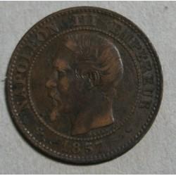 FRANCE - 2 Centimes 1857 MARSEILLE NAPOLEON III Tête nue