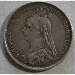 ROYAUME-UNI, 1 Shilling 1887 Reine Victoria buste du jubilé