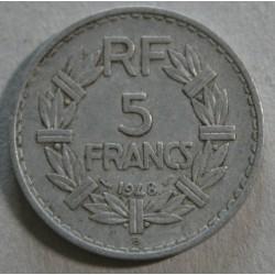 FRANCE - 5Francs 1948 B Aluminium