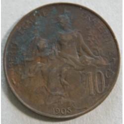 10 CENTIMES DANIEL-DUPUIS 1905 TB
