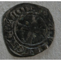 FEODALE FRANCE -Denier coronat Robert d'Anjou
