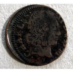 Féodale - Ardennes, Charles II de Gonzague, Denier tournois 1651 A