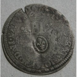 LOUIS XIV - SOL de 15 deniers surfrappé sur ancien flan 1699