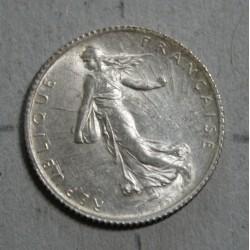 FRANCE - Semeuse 1 Franc 1915 frappe désaxée