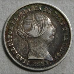 ESPAGNE - Isabel II 1 real 1853+1862