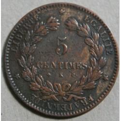 CERES - 5 centimes 1877 K Bordeaux
