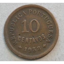 PORTUGAL - 10 CENTAVOS 1938