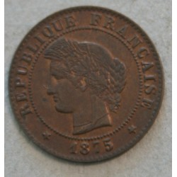 CERES - 1 centime 1875 K Bordeaux SUP+/SPL très belle cote