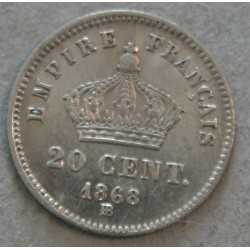 NAPOLEON III - 20 centimes 1867 BB jolie monnaie