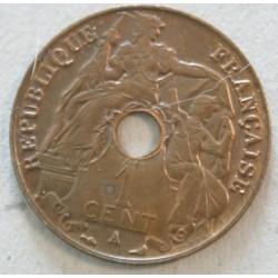 INDOCHINE - 1 Cent. 1918 qualitée