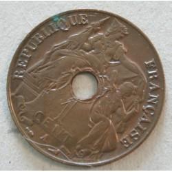 INDOCHINE Française - 1 Cent. 1918 qualitée