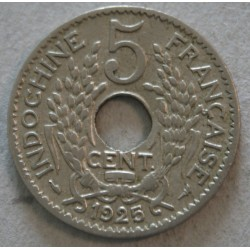 INDOCHINE Française - 5 Cent. 1925