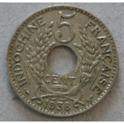 INDOCHINE Française - 5 Cent. 1938